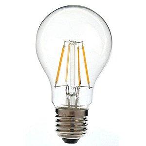 Lâmpada Bulbo Filamento Led 4w Bivolt 2700k Branco Quente