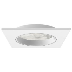 Embutido Face Plana para PAR30 Quadrado Branco Interlight