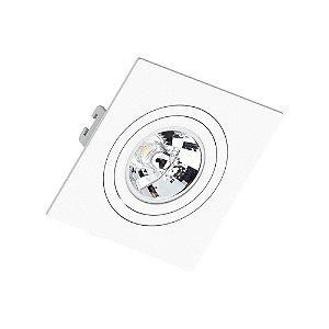 Embutido Face Plana para AR70 Quadrado Branco Saveenergy