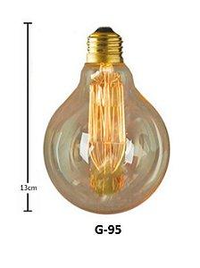 LAMPADA DE FILAMENTO ANTIGA RETRO VINTAGE G95 40 110V