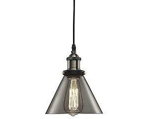 Luminária em vidro e metal fumê Cinza D:19cm - 4122 Mart Collection