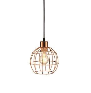 Pendente Industrial aramado em metal cor cobre - 4521 Mart Collection