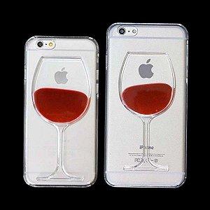 Capinha Silicone Taça de Vinho - iPhone