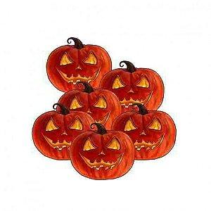 Abóbora Decorativa - Festa Halloween - 06 Un - 20cm Cada - Catelândia