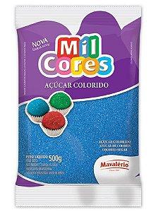 Açúcar Colorido 500g Mil Cores Azul - Mavalério