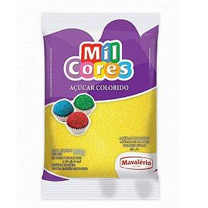 Açúcar Colorido Mil Cores Amarelo 500g - Mavalério