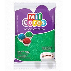 Açúcar Colorido Mil Cores Verde 500g - Mavalério