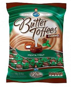 Bala Caramelo com Cacau e Recheio Menta Butter Toffees Chokko 600g - Arcor