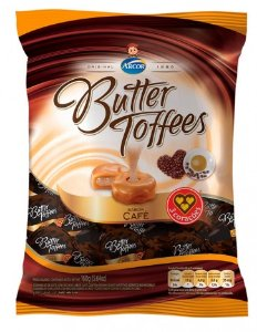 Bala Caramelo de Leite com Recheio Creme de Café Butter Toffees 600g - Arcor