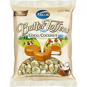 Bala Caramelo de Leite com Recheio Creme de Coco Butter Toffees 600g - Arcor