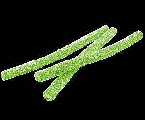 Bala de Gelatina Maçã Verde Tubinhos para Mesas de Guloseimas - Catelândia