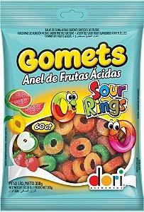 Bala de Goma Anel de Frutas Ácidas Sour Ring 600g Halloween - Catelândia