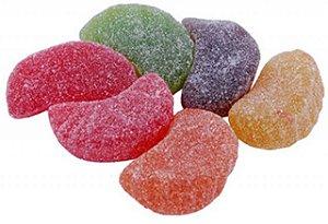 Bala de Goma Colorida Formato Gomos de Frutas 1 Kg - Catelândia
