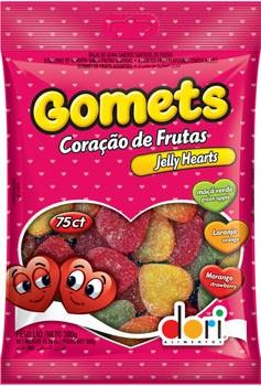 Bala de Goma Gomets Coração Dori 600g - Catelândia