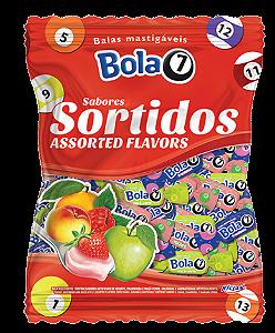 Bala Mastigável (Mole) Sortida 600g Bola 7 - Catelândia