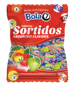 Bala Mastigável Sortida 12 kg - Boas Festas - Embalagem Econômica - Catelândia