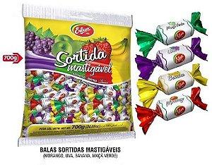 Bala Mole Mastigável Sabores Frutas Sortidas 600g Erlan - Catelândia