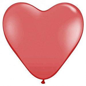 Balão Coração Grande Vermelho 06 Un - São Roque