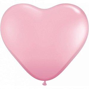 Balão Coração Rosa 50 Un - São Roque