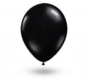 Balão Série Imperial Preto Ebano n° 07 Pacote 50 Un - São Roque