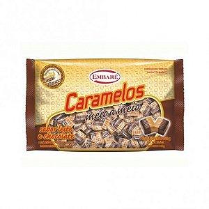 Balas de Caramelo Meio a Meio Chocolate e Doce de Leite 840g - Embaré