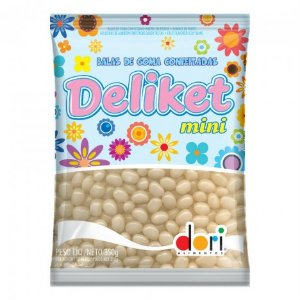Balas de Goma Brancas Peroladas Mini Jelly Beans 350 g - Catelândia