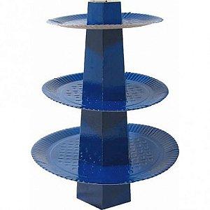 Baleiro 3 Andares para Bala de Coco Azul Escuro 1 Un - Catelândia