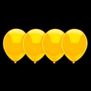 Balões de Neon Amarelo 20 Un - Iluminados se Submetidos à Luz Negra - Catelândia