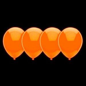 Balões de Neon Laranja 20 Un - Iluminados se Submetidos à Luz Negra - Catelândia