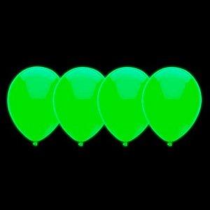 Balões de Neon Verde 20 Un - Iluminados se Submetidos à Luz Negra- Catelândia