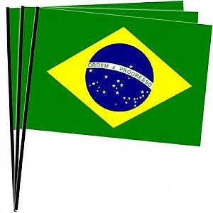 Bandeira do Brasil  em Tecido Média 10 Un - Catelândia