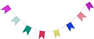 Bandeirinhas Coloridas Prontas para Festa Junina Papel de Seda 20 metros - Catelândia