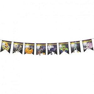Bandeirinhas Halloween - 20 Metros - Pendurar e Decorar - Festa Halloween - Catelândia