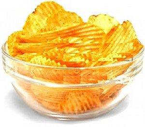 Batata Frita Ondulada Sabor Natural Embalagem Econômica - 20 Pacotes