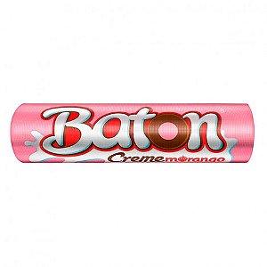 Baton Creme Morango com Recheio Cremoso Garoto Display com 30 Unidades - Catelândia