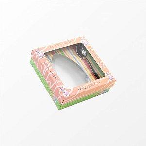Caixa de Páscoa para Ovo de Colher de 250 Gramas - Leve Grátis 01 Colher