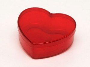 Caixinha em Acrílico Formato Coração P/ Colocar Chocolates 11cm - Catelândia