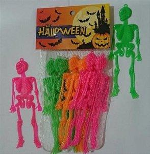 Caveiras Neon para Decoração Halloween 12 Un - Catelândia