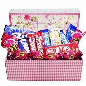 Cesta Box Seleção de Chocolates para Namoradas - Catelândia