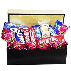 Cesta Box Seleção de Chocolates para Namorados - Catelândia