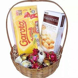 Cesta De Chocolates - Básica - Páscoa - Catelândia