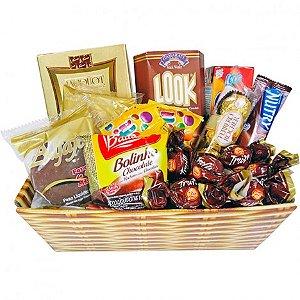 Cesta de Chocolates Finos e Bombons - Catelândia