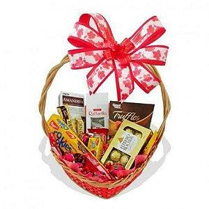 Cesta de Páscoa - Chocolates Finos - Presente Para Namoradas - Catelândia