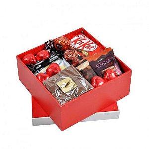 Cesta Especial Presente De Aniversário, Para Namorada Com Chocolates