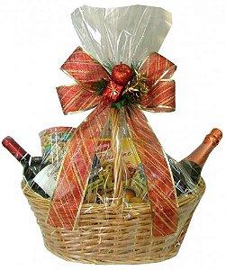 Cesta Luxo - Elegante Presente De Natal - Completo - Catelândia