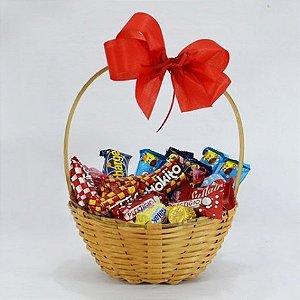 Cesta Pequena Chocolate Presente Dia dos Namorados