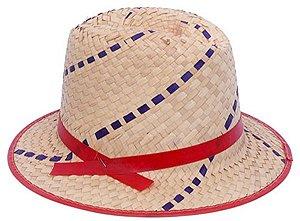 Chapéu de Palha Infantil Malandrinho para Festa Junina - Catelândia