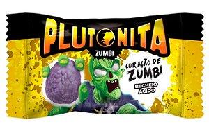 Chicle Plutonita Coração de Zumbi Recheio Ácido 40 Un Halloween Edition - Catelândia