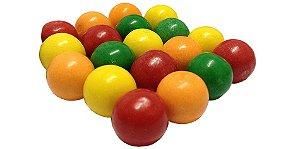 Chiclete de Bola Mega Ball Colorido Sortido 80 Unidades - Catelândia