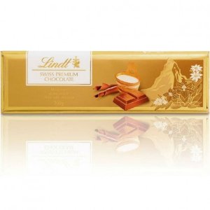 Chocolate Ao Leite Suíço Gold Bar Milk Lindt Barra - 300g